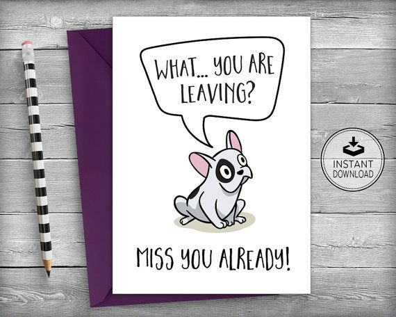 Farewell Cards | New Job Cards | Goodbye Cards | Going Away Cards | French…
