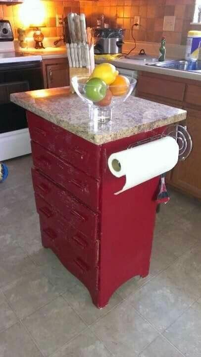 Little dresser made into island