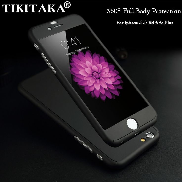 2016 New Hybrid 360 Case Full Body Protection Cover Hard Ultra thin Capa For fundas iPhone 6 6S Plus Phone Case + Tempered Glass