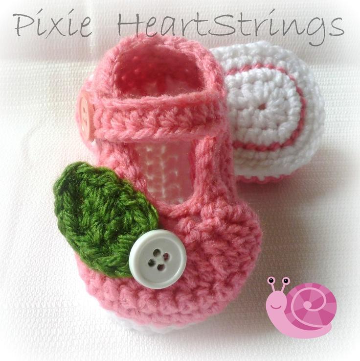 136 besten Escarpines en crochet Bilder auf Pinterest   Babyschuhe ...