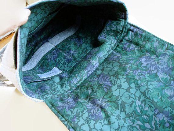Jeans-Rucksack Jean Rucksack Tasche große gewebten blauen