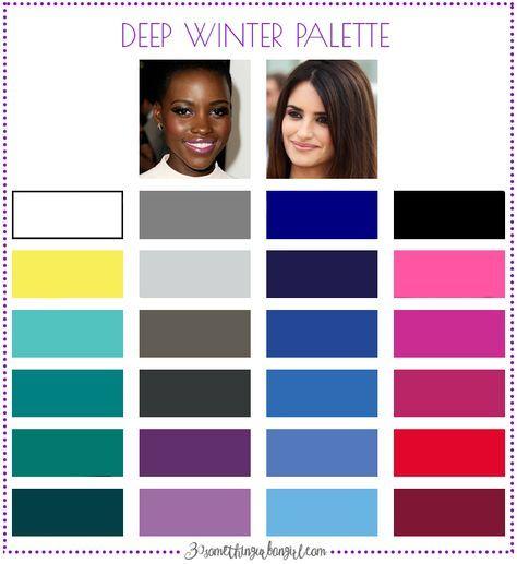 Best colors for Deep Winter seasonal color women; Deep Winter color palette   #DeepWinter #colorpalette