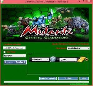 Mutants: Genetic Gladiators Hack Cheat Tool [Generator for Facebook]