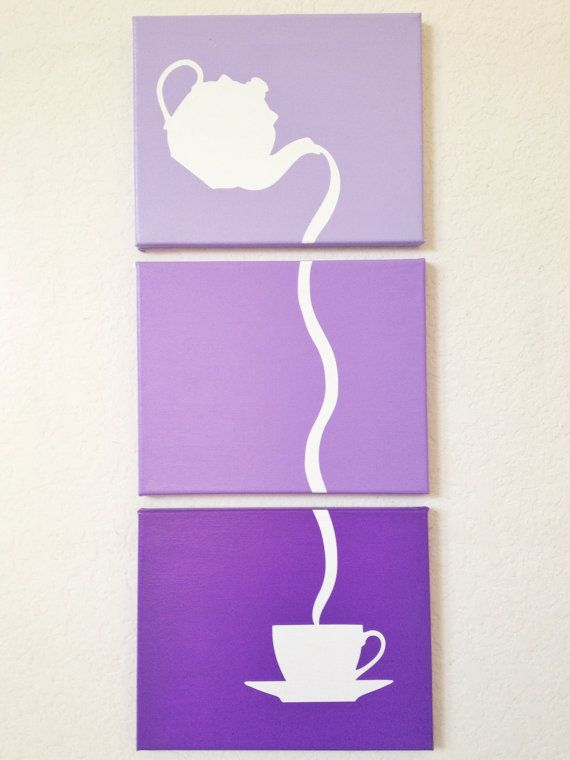 Pouring Tea Ombre Canvas Art by adapperduck on Etsy