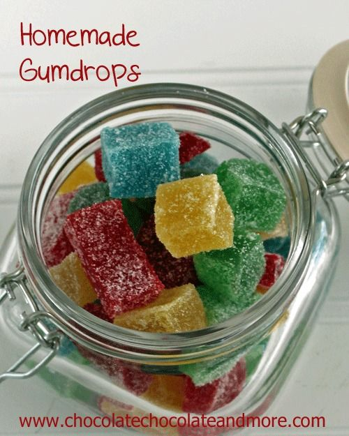 Homemade Gumdrops-fresher than anything you can buy. Makes a great food gift, adjust the flavors and colors for any occasion