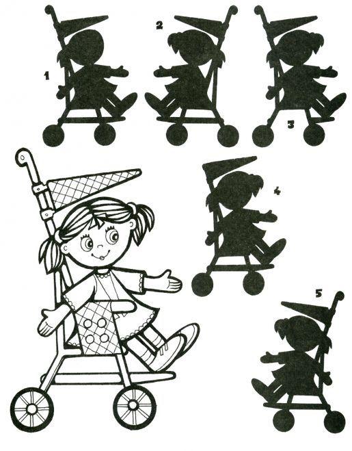 Zoek de juiste schaduw met kleuters / Раскраска с заданием