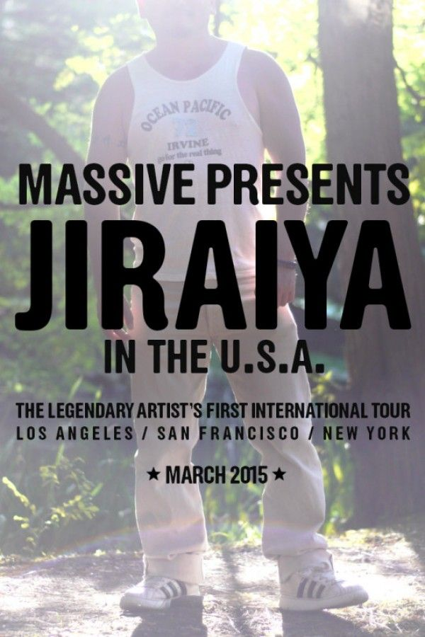 Jiraiya, one of the stars of Massive comes to LA, San Fran, and NYC for a tour throughout the month of March!