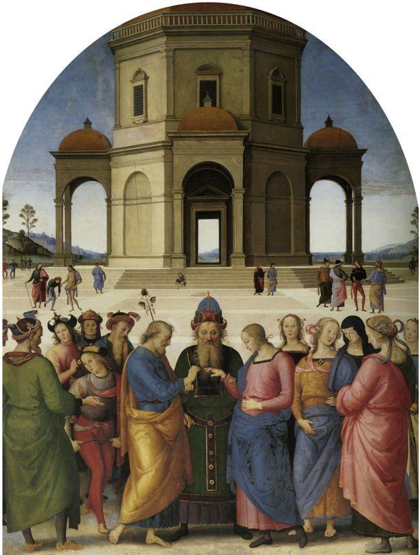 Пьетро Перуджино Обручение Девы Марии