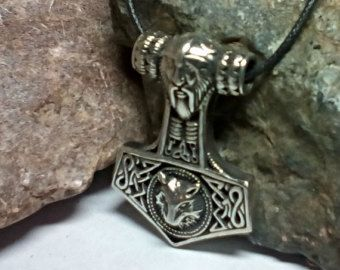 Viking Necklace Thors Hammer. Replica Bredsatra. Thor's от RuyaN