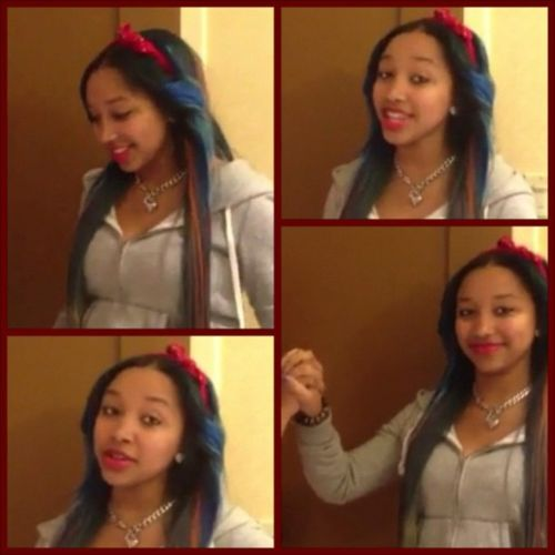 Tiny and Ti Daughter OMG Girlz | support a girl w/ long blue hair, she's apart of the OMG GIRLZ, and ...