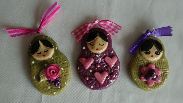 made with salt dough   Nice intricate crafts for guides maybe