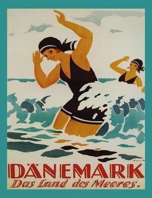 Denmark travel poster
