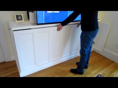 1000 images about diy make your own cabinet with tv lift. Black Bedroom Furniture Sets. Home Design Ideas