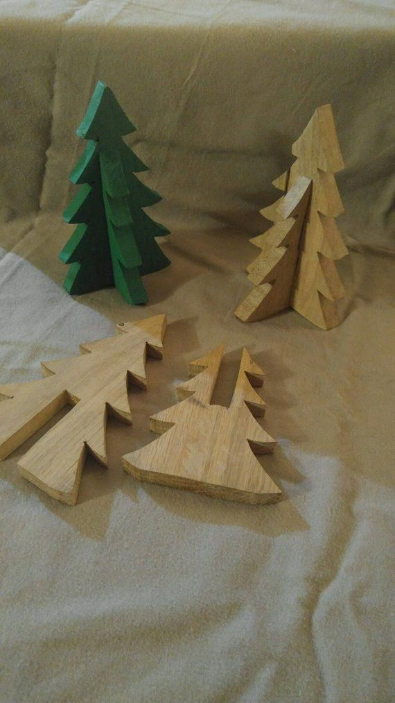 Pallet wood christmas tree table top decor