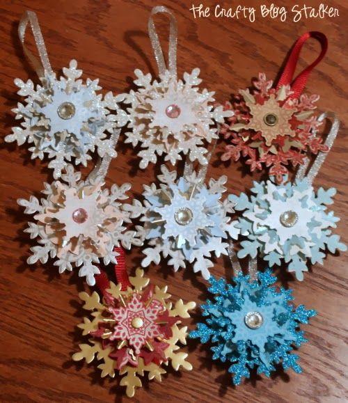 DIY Christmas Snowflake Ornament Tutorial                                                                                                                                                                                 More