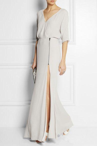 DagmarLillian wrap-effect crepe maxi dress