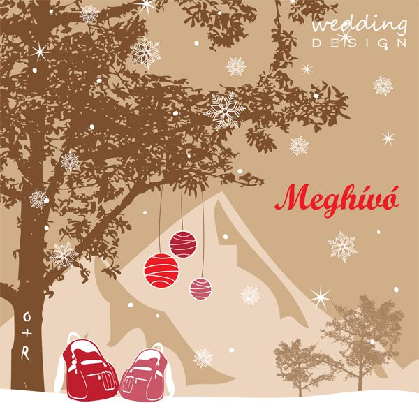 Winter invitation card  - Téli esküvői meghívó Graphic/Grafika: Wedding Design