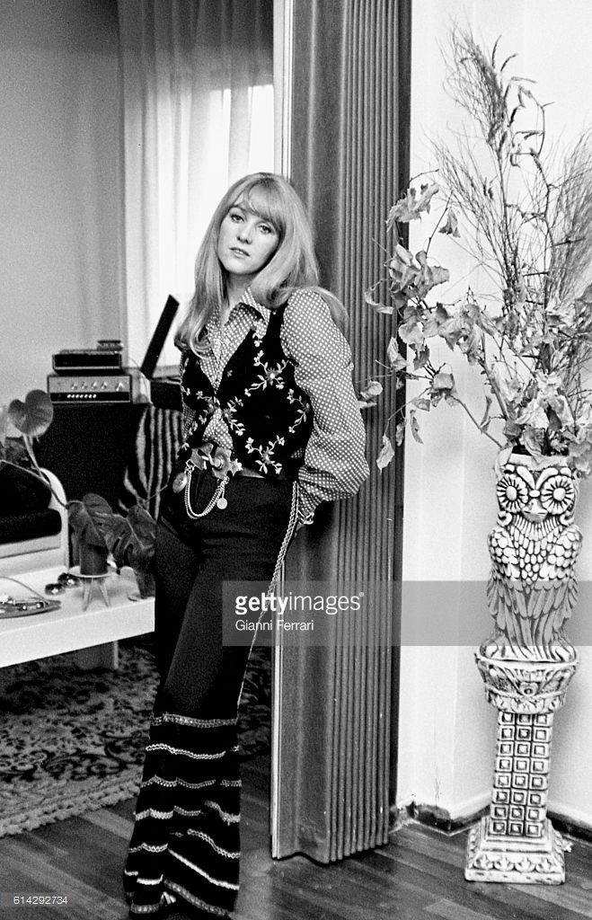 The English singer Sally Carr, 1973, Madrid, Spain. (Photo by Gianni Ferrari/Cover/Getty Images).