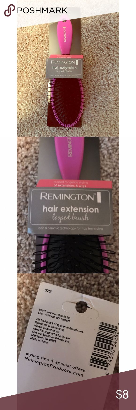 Remington hair extension brush Looped brush designed to gently brush and style wigs and extensions. remington Other