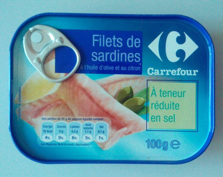 FILETS DE SARDINES A TENEUR REDUITE EN SEL - CARREFOUR
