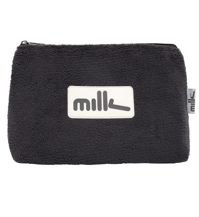 MILK & CO. TOILET BAG  Milk & Co. grey towelling, plastic lined toilet bag. Great for travel.
