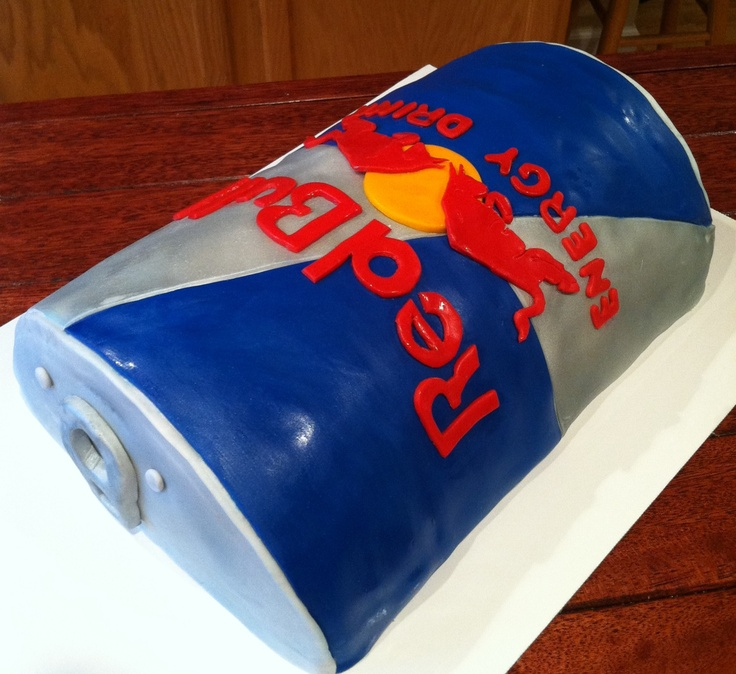 Red Bull Cake Cakes Pinterest Cakes Red Bull And Red