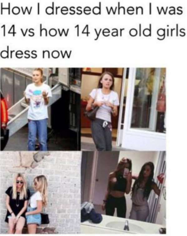 Today's okay, but some things were so much better before! | From best-facts<<Dude I'm 14 and I wear stuff from the before picture because I don't like to exit my room and I don't care