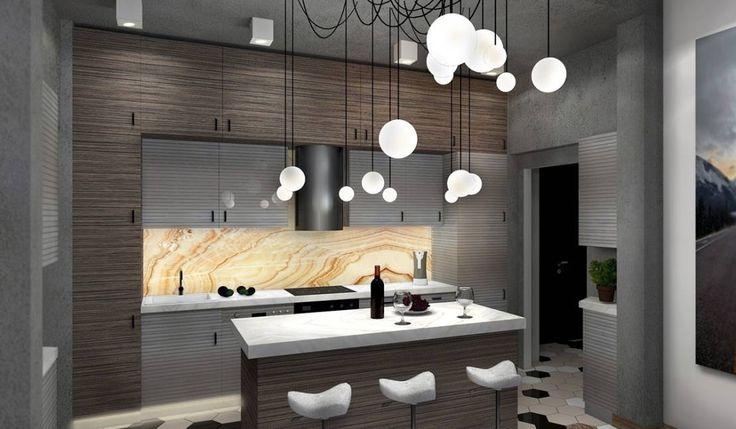 Гостиная, совмещенная с кухней : Cocinas industriales de Дизайн-студия HOLZLAB