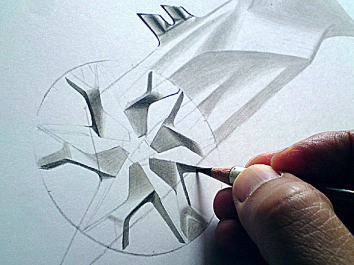 Wheel Pencil Rendering by Olivier Gamiette link: