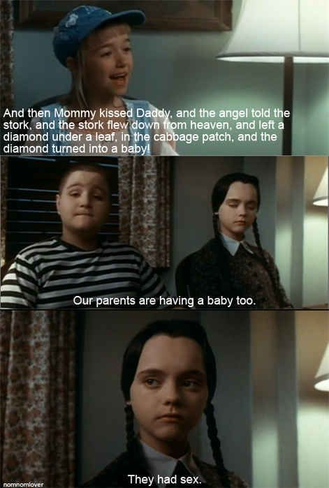 Wednesday is not one to beat around the bush. | 18 Times Wednesday Addams Was The Hero Young Girls Needed