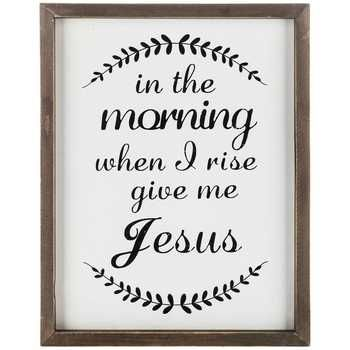 Give Me Jesus Framed Wood Sign