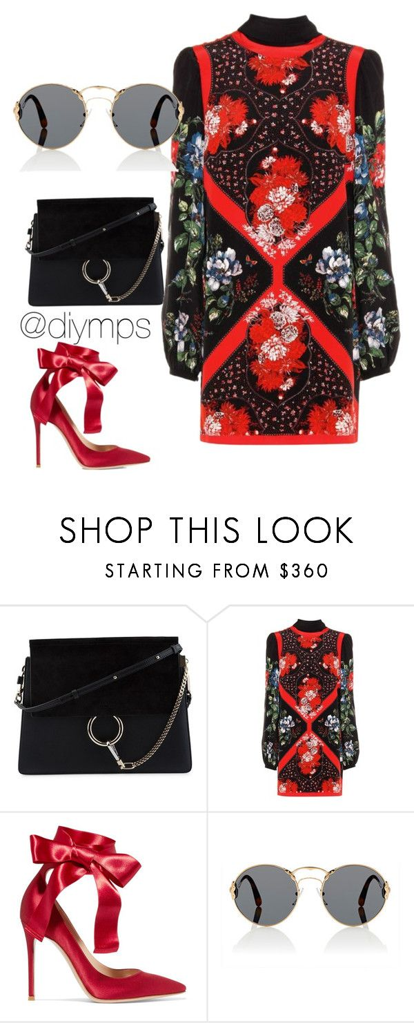 """""""Bow, by @diymps"""" by diymps on Polyvore featuring Chloé, Alexander McQueen, Gianvito Rossi and Prada"""