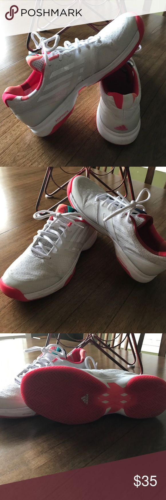 Adidas adizero Ubersonic Brand new, worn one time, tennis shoes. Made for the court, these are extremely lightweight and breathable to give you the best comfort on the tennis court. Adidas Shoes Sneakers