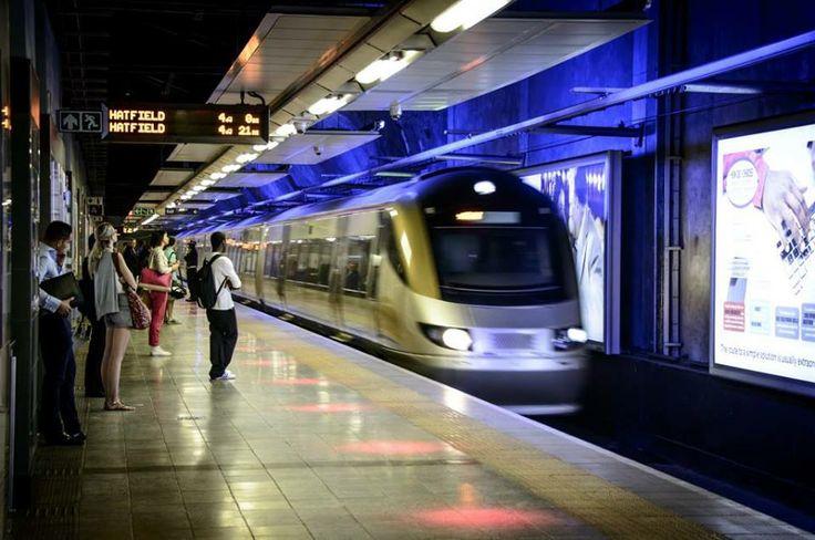 Gautrain, Pretoria, Johannesburg.