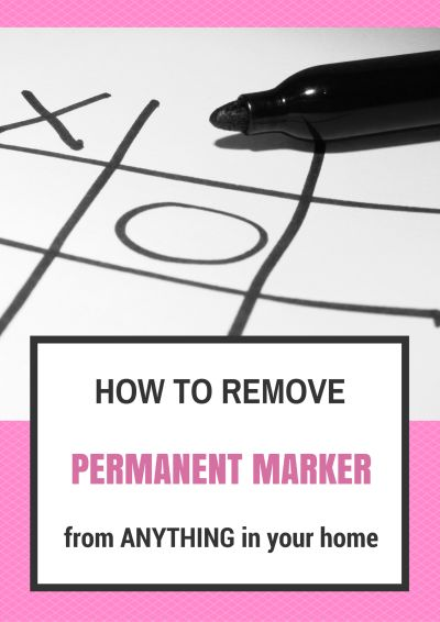 Simple ways to remove permanent marker from everything in your home, even your kids!