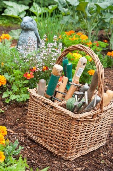The organized gardener. From The Complete Kitchen Garden book by Ellen Ecker Ogden.