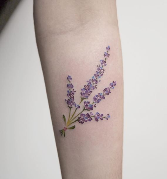 Lovely Lavender Tattoo