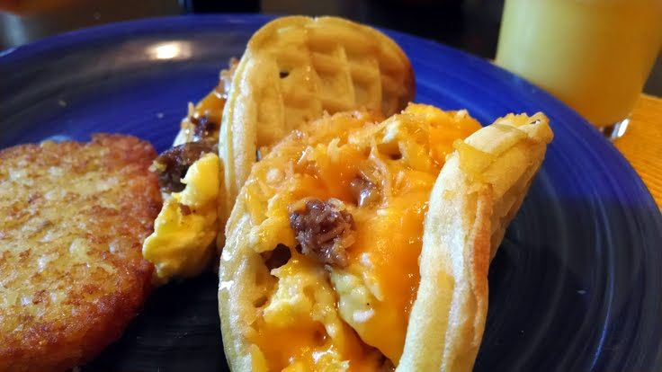 "Waffle Tacos! ""These were really yummy! And way better than Taco Bell :nod @allthecooks #recipe"