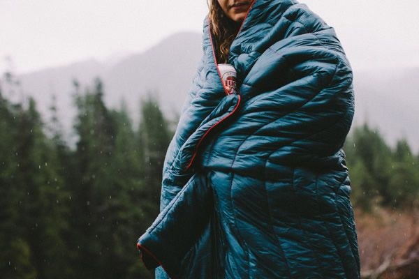 Made with the same materials as sleeping bags, the Puffy makes for the perfect outdoor blanket with its water-resistant shell and synthetic down insulation.