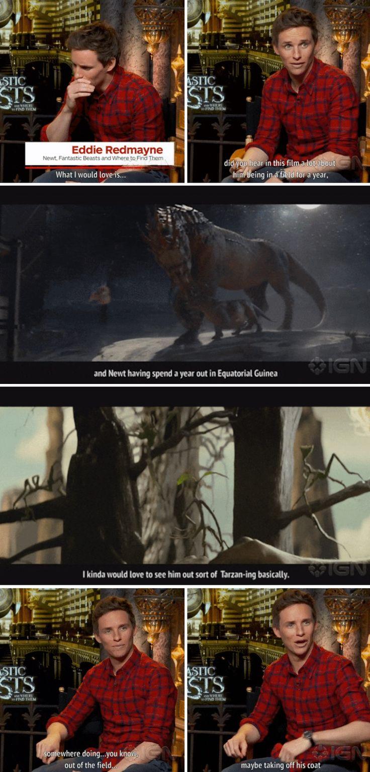 Eddie Redmayne talking about what he wants in Fantastic Beasts 2