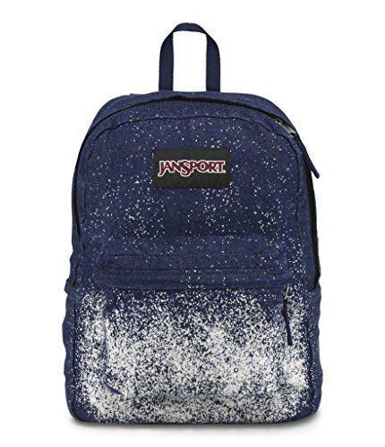 Jansport Special Edition Superbreak Blue Denim Sparkle Celestial Backpack - Click image twice for more info - See a larger selection of blue backpacks at http://kidsbackpackstore.com/product-category/blue-backpacks/ - kids, juniors, back to school, kids fashion ideas, teens fashion ideas, school supplies, backpack, bag , teenagers girls , gift ideas, blue