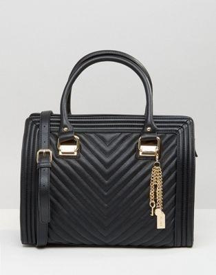 ALDO Front Panel Tote Bag With Bag Charm