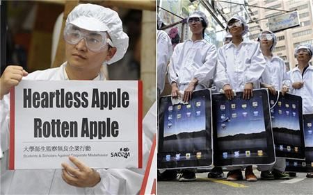 Apple factory workers in China