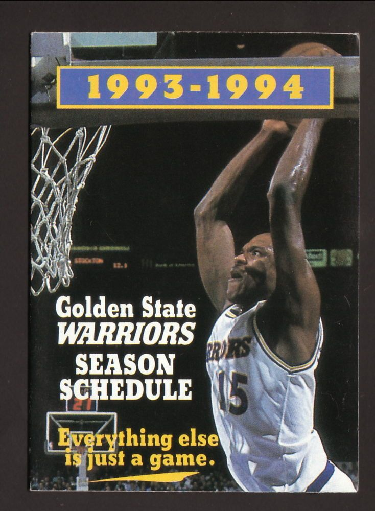 Latrell Sprewell--1993-94 Golden State Warriors Schedule--Southwest Airlines #PocketSchedule