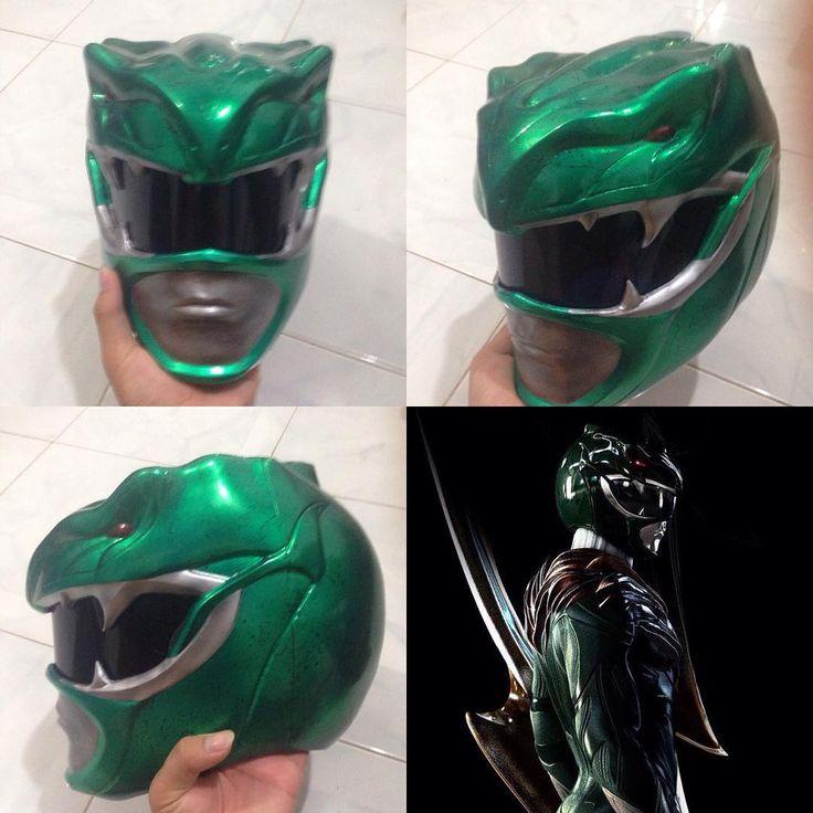 Carlos Dattoli Art MMPR Movie Concept Green Ranger Helmet - made by: Trần Đạt/Gdat.ar #∆∆shani