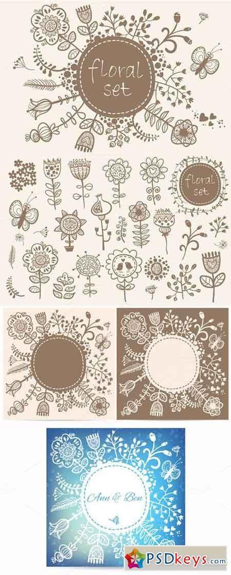 Floral set 58748