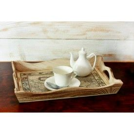 """Serving Tray, Antique map Serving Tray - 14 """"x  10 """"x  1.8 ',"""