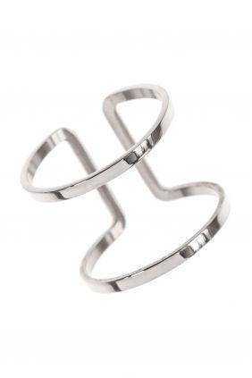 frame rahmen ring edelstahl zweireihig modern