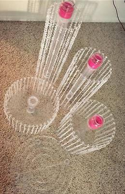 Soportes De Pastel De Bodas Fiesta Araña de cuentas de cristal de plástico acrílico redondo de la Magdalena