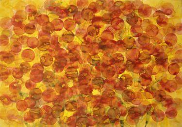 "Saatchi Art Artist Jitka Anlaufova; Painting, ""Flowers"" , Acrylic and Watercolor on paper, 60x84cm."